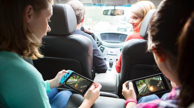 Nintendo Switch on the go
